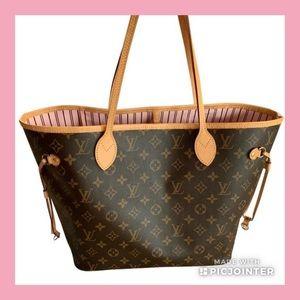 Louis Vuitton Monogram Neverfull MM Rose Ballerine